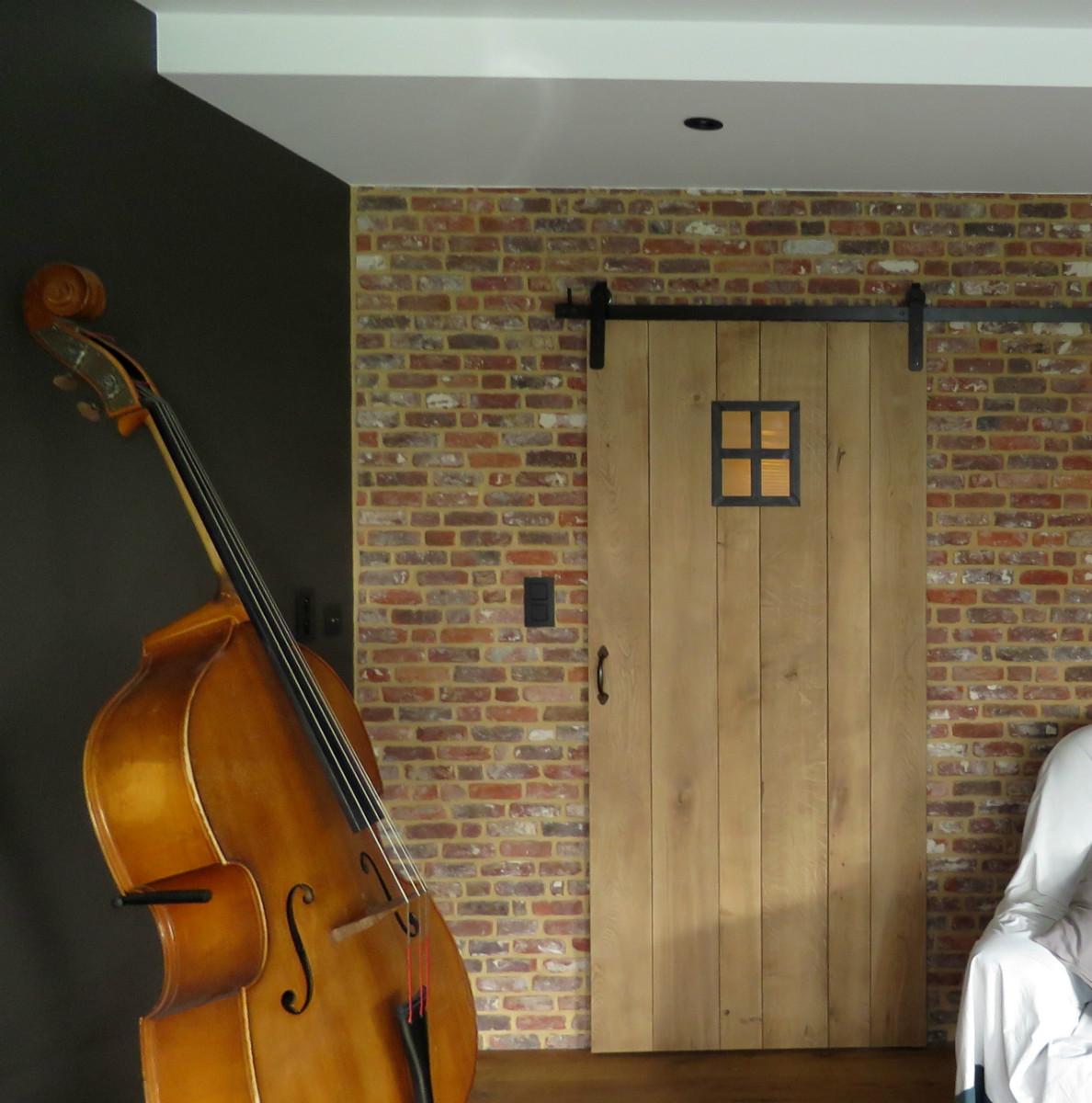 Binnendeuren in eik maatwerk divers arthur bours - Briketten badkamer ...